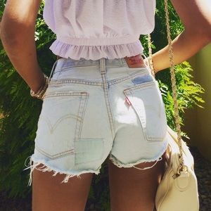 501 Original Shorts - Light wash
